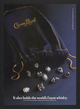 1988 CROWN ROYAL Whisky - Holds The Worlds Finest Whisky - Diamonds - VINTAGE AD