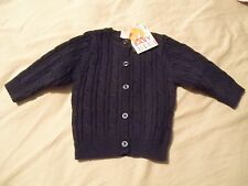 NWT Dark Blue Giggle Baby Sweater Size 3 6 Months Boy Clothes Outfit