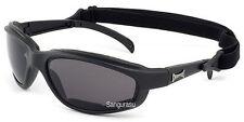 Homme choppers moto conduite équitation lunettes lunettes rembourré noir fumé lens