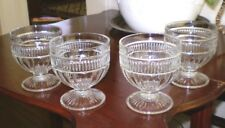 Set of Four (4) Vintage Cut Glass~Gothic Style Goblets