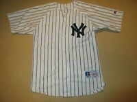 Derek Jeter New York Yankees Russell Athletic Jersey Youth Large 14-16 SEWN