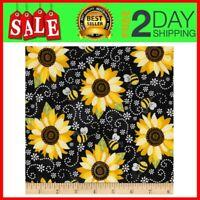 Timeless Treasures You Are My Sunshine Sunflower & Bee Chalkboard Fabric