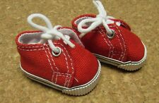 Doll Shoes, 48mm Red Sneaker fit Bitty Bethany, Ann E, Patsy