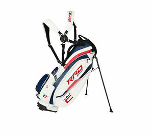 NEW 2021 Cobra x Vessel White/Red/Blue RadSpeed Golf Tour Staff Stand Bag