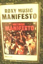 Roxy Music  (Bryan Ferry)  Manifesto Cassette Album