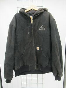 K0110 VTG Men's Carhartt Sandstone Active Hooded Jacket