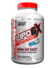 Nutrex Lipo 6X Multi-Phase Fat Burner Weight Loss Basix Series 120 Capsules