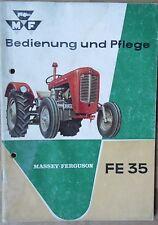 Massey Ferguson Schlepper FE 35 Bedienung und Pflege