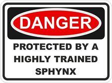 Cat Breed SPHYNX Danger Sticker Pet for Bumper Locker Car Door