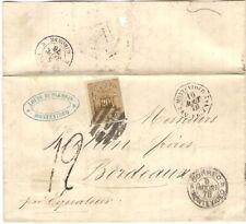Uruguay Montevideo 1878 Entire Letter Cover Poste Maritime Francaise    Mailboat