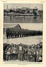 China Tientsin Boxer Kaiser Besatzung Iltis Kanonenboot pour le mérite Text 1900