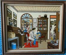 RARE H. Hargrove First Checkup Serigraph Signed Limited Ed. COA 80/1500 Framed