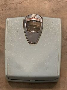 Antique Vintage, 1950s Detecto Bathroom Scale! Light Blue with gold flakes!!!