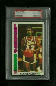 Lucius Allen 1976 Topps Basketball TALLBOY #34 PSA 6 Ex-Mt! Los Angeles Lakers!
