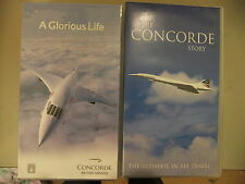 Concord VHS tapes x 2 - one from BRITISH AIRWAYS very RARE