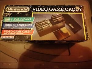 boite de rangement nintendo nes + boite en carton(rare) video game caddy