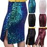 High Waist Bodycon Skirt Zipped Sequin Skirt Mini Skirt Short Pencil Skirt S-XXL