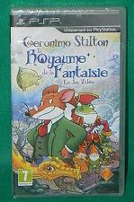 PSP jeu NEUF sous cello scellé GERONIMO STILTON le royaume de la fantaisie