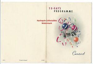 1958 Cunard Daily Programme  Cruise Ship RMS SYLVANIA Entertainment Food Games