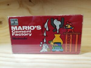 NINTENDO Game & Watch Mario's Cement Factory COMPLETE BOX ( TESTED/ WORKS )🔥🔥