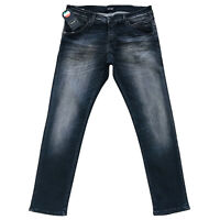 JACK & JONES pour Homme 'S Glenn Fox Slim Fit Taille Basse Gris Jeans Taille W36