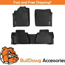 SMARTLINER All Weather Floor Mats Liner for Tundra Double Cab / CrewMax Black