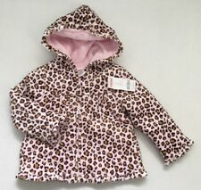 NWT Gymboree 3 3T Kitty Glamour Pink Leopard Quilted Velour Coat Jacket