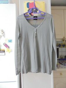 Tunique chemise haut gris de marque CHIPIE femme taille L / XL 40 TBE