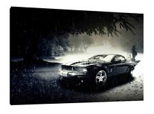 Ford Mustang 30x20 Inch Canvas - Framed Picture Print Art