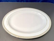 Christofle Babylone Ivoire Plat Ovale cm. 38 - 7651220 - Oval Tray Gold Rimmed