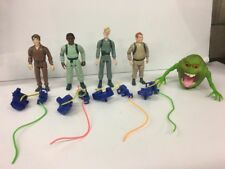 Lot Of 5 Great Original Kenner Ghostbusters Figures Slimer Green W/ Proton Packs