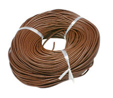 10 Feet Brown Leather Cord for Necklaces or Bracelets 3mm BULK