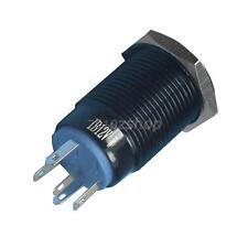 Wasserdicht Ein- Aus Druckknopfschalter mit Weiß LED Licht 16mm 12V