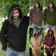 Medieval Renaissance Viking Men Casual Tops Tunic Shirt Pirate Halloween Cosplay