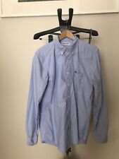 American Apparel Stone Wash Oxford Button Up Medium Blue