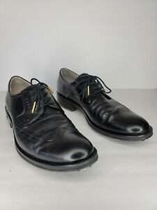Classic ECCO World Class Black Golf Shoes Size 46 12/12.5