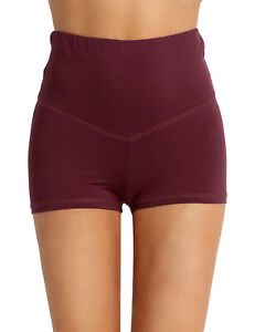 Womens Shorts Sports Activewear Gym Running Hot Pants Ruched Back Booty Shorts