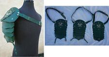 Lot 3 KNIGHT SQUAD Prop Medieval Renaissance Armor Leather Shoulder pauldron