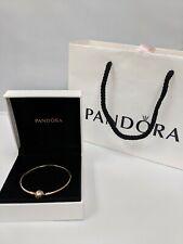 14K Gold ALE Pandora Charm Bracelet Moments Bangle