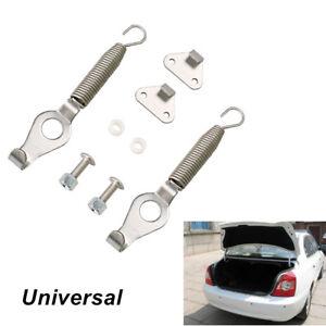 """Pair Universal Racing Spring Car SUV Trunk Hood Lock Hinge Kit Steel Length 5.2"""""""