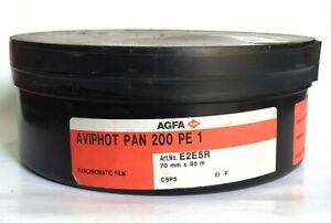 AGFA Aviphot Pan 200 PE1 Panchromatic Negative Film (NOS) 70mm x 85m Exp 2009-12