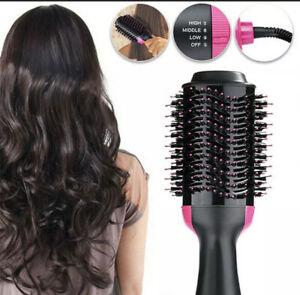 One Step Hair Dryer Styler Volumizer Straightener Curler Comb Hot Air Brush UK