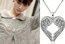 Generous silver jewelry fashion angel wing pendant Sweater necklace love