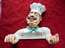 PETER MOOK Signed Chef Paper Towel Holder Statue Wall Decor RARE Kitchen