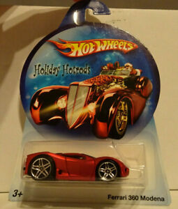 2007 Hot Wheels Holiday Hotrods Ferrari 360 Modena ~ Satin Red