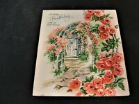 Lots of Good Things on Your Birthday, Flowers - Vintage 1950s Greeting Card.