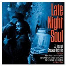 LATE NIGHT SOUL - MARVIN GAYE, ARETHA FRANKLIN, ETTA JAMES, SAM COOKE  2 CD NEUF