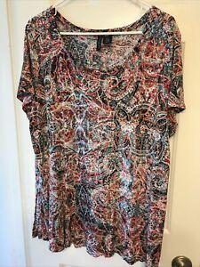 Cynthia Rowley Women's 3X Shirt Top Blouse Plus Rayon