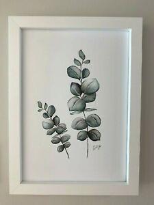 Art Print | A4 Print | Artwork ONLY | Eucalyptus | Foilage Print | Water Colour