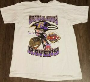 2001 Baltimore Ravens Super Bowl Championship T Shirt - Tampa FL